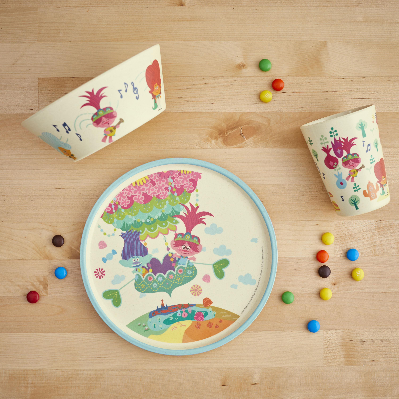 Trolls 2 Movie Kids 3-piece Dinnerware Set, Poppy & Friends, 3-piece set slideshow image 10
