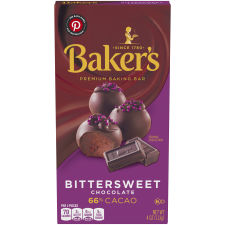 Baker's Premium Bittersweet Chocolate Baking Bar, 4 oz Box