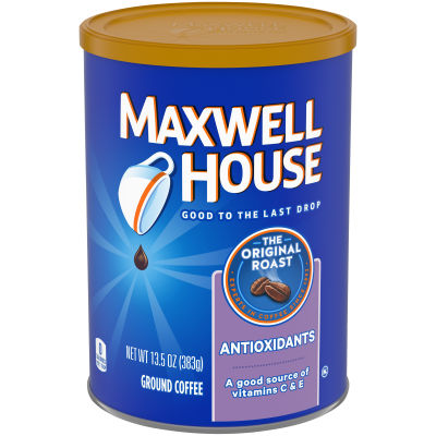Maxwell House Antioxidants Original Medium Roast Ground Coffee, 11 oz Canister