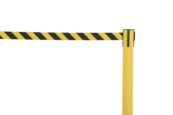 Sentry Stanchion - Yellow with Chevron belt 5