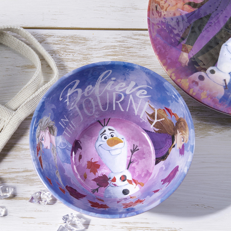 Disney Frozen 2 Movie Kids 9-inch Plate and 6-inch Bowl Set, Anna and Elsa, 2-piece set slideshow image 3