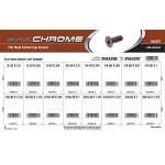 "Black Chrome Flat-Head Socket Cap Screws Assortment (#8-32 thru 3/8""-16 Thread)"