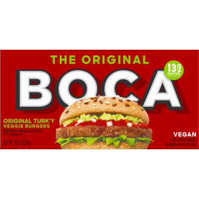 Boca Original Vegan Veggie Burgers 4 count Box