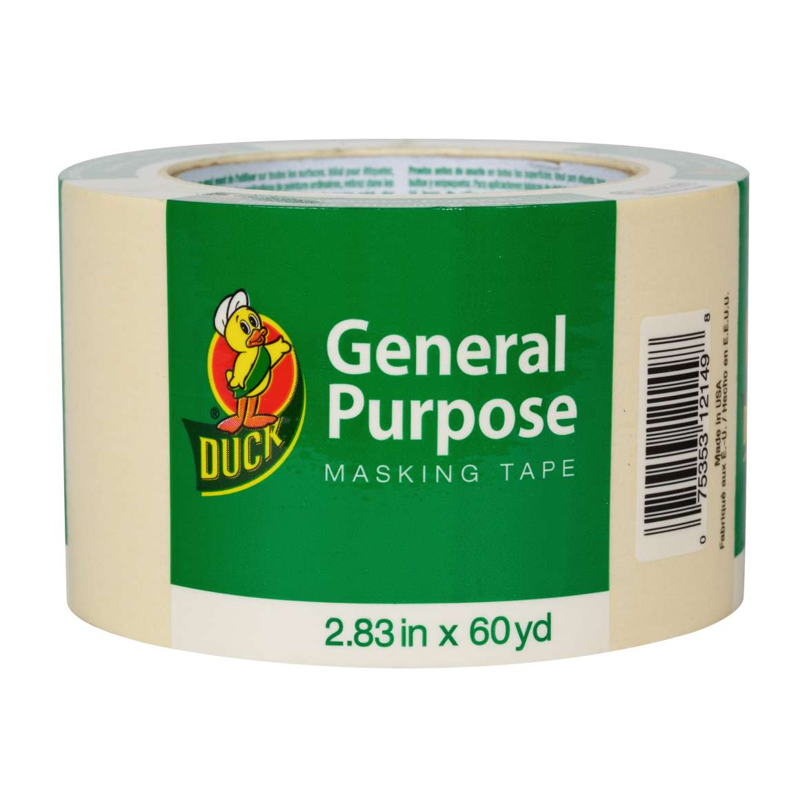 Duck® Brand General Purpose Masking Tape - Beige, 2.83 in. x 60 yd. Image