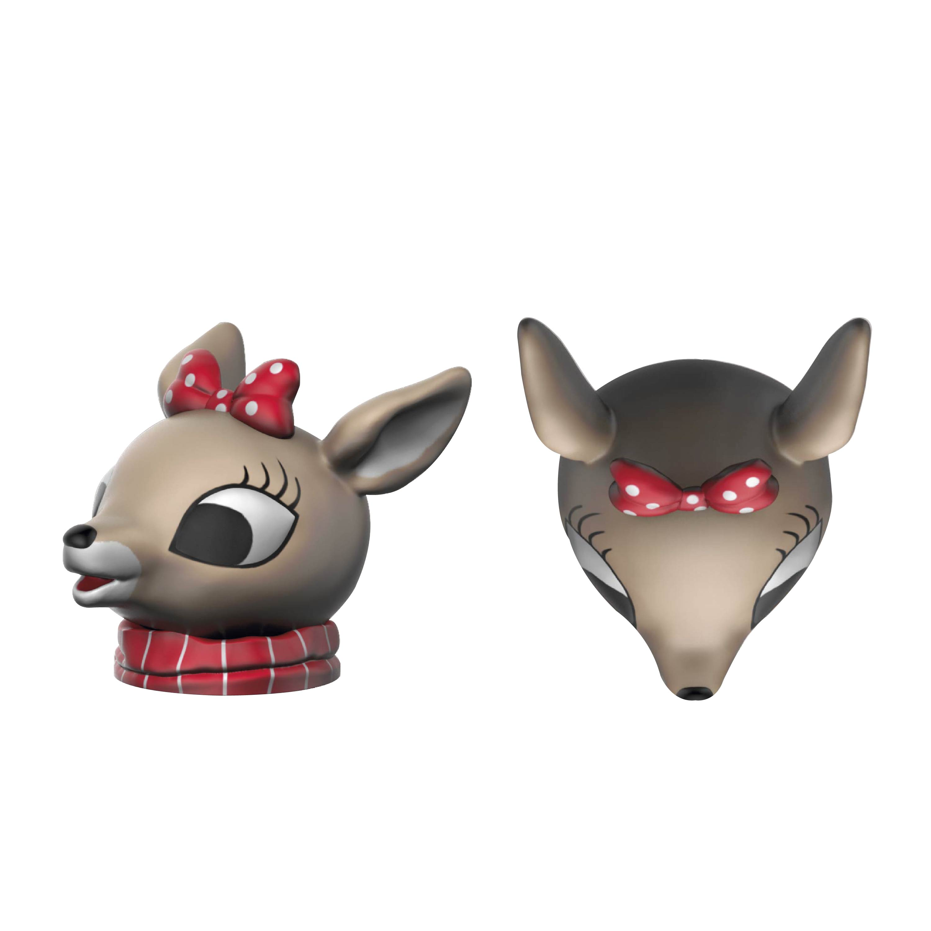 Rudolph the Red-Nosed Reindeer Salt and Pepper Shaker Set, Rudolph & Clarice, 2-piece set slideshow image 8