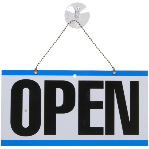 Two-Sided Open / Closed Sign with Clock (6