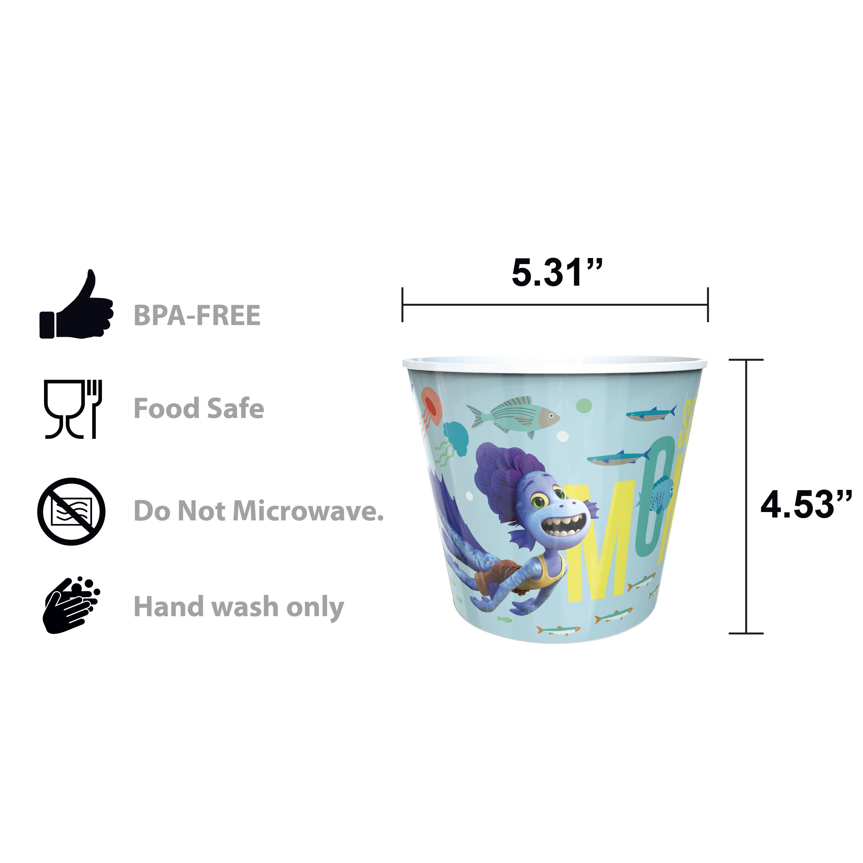 Disney and Pixar Plastic Popcorn Container and Bowls, Luca, 5-piece set slideshow image 6