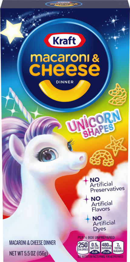 Kraft Unicorn Shapes Macaroni & Cheese Dinner 5.5 oz. Box image