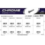 Chrome Hex Cap Screws Assortment (7/16-14 & 7/16-20 Thread)