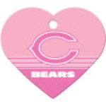 Chicago Bears Pink Chrome Large Heart Quick-Tag