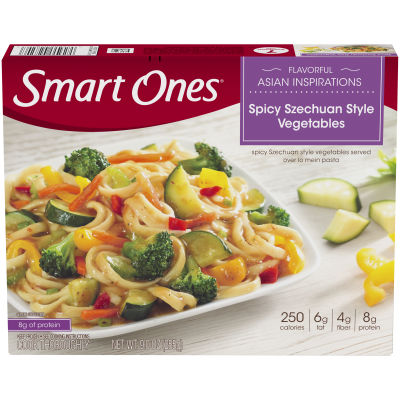 Smart Ones Flavorful Asian Inspirations Spicy Szechuan Style Vegetables 9 oz Box