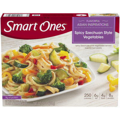 Weight Watchers Smart Ones Flavorful Asian Inspirations Spicy Szechuan Style Vegetables 9 oz Box