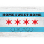 "Aluminum Home Sweet Home Chicago Sign 10"" x 14"""