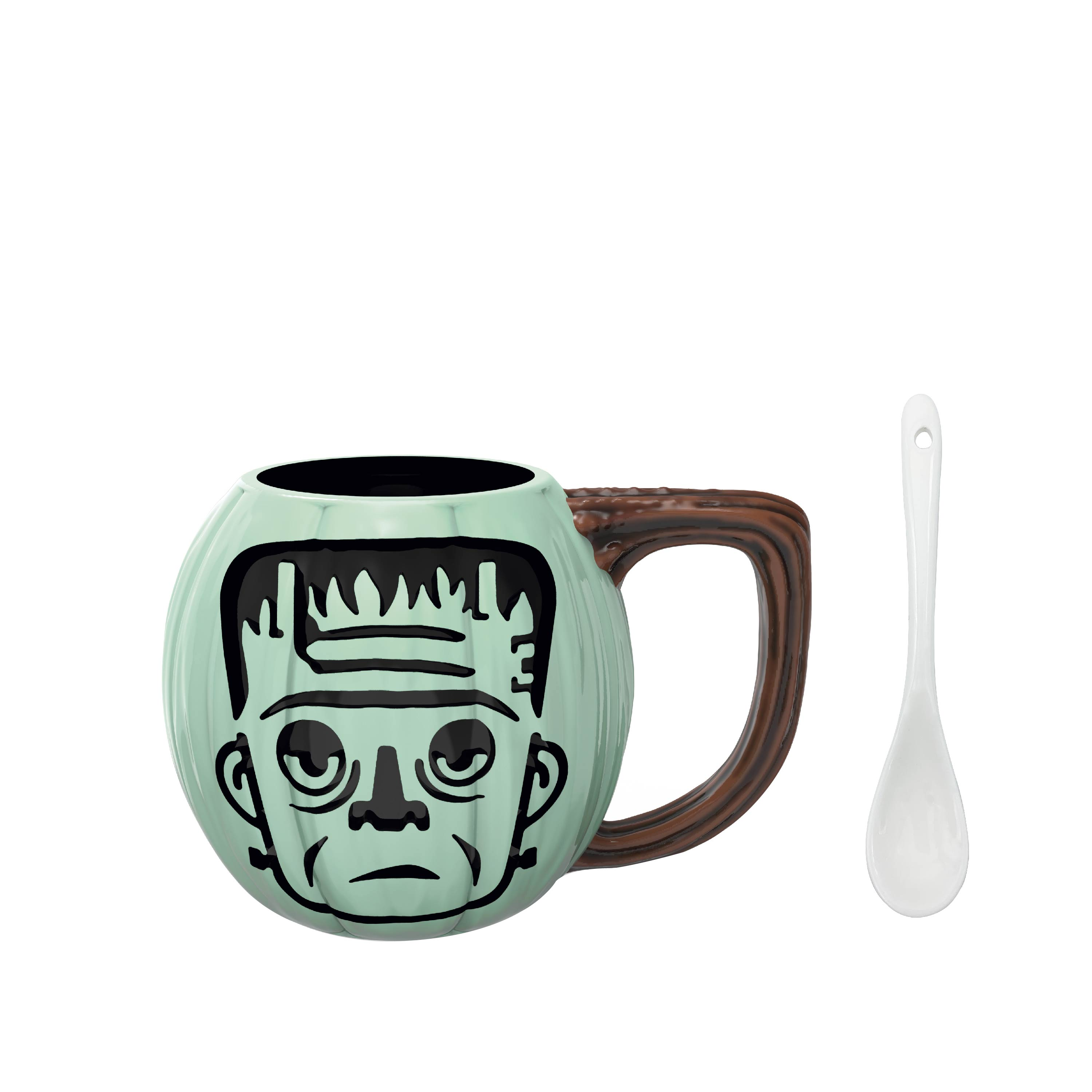 Little Monsters 15 ounce Coffee Mug and Spoon, Frankenstein slideshow image 2