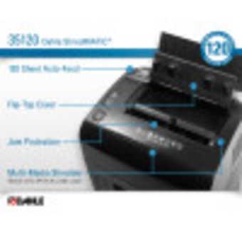 Dahle ShredMATIC® 35120 Auto Feed Paper Shredder InfoGraphic
