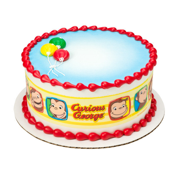 Curious George® Funny Faces PhotoCake® Edible Image® Strips