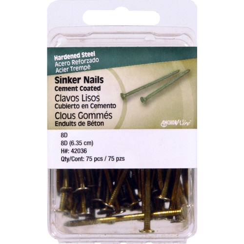 Cement Coated Sinker Nails 2-1/2