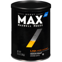 MAX Boost by Maxwell House 1.25x Caffeine Medium Roast Ground Coffee 13.5 oz Canister