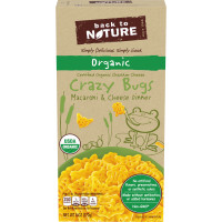 BACK TO NATURE Organic Crazy Bugs Macaroni & Cheese Dinner 6 oz. Box image
