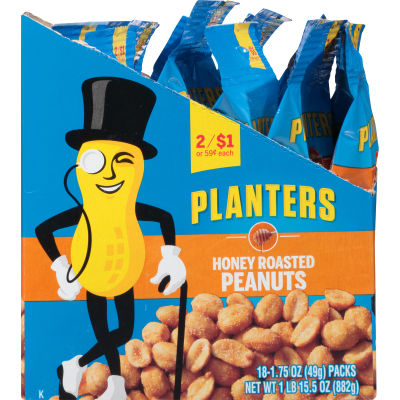 Planters Honey Roast Cashews 18 - 1.75 oz Bags