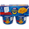 Kraft Easy Mac Macaroni & Cheese Dinner Triple Cheese Flavor, 4 - 2.05 oz Microwavable Cups