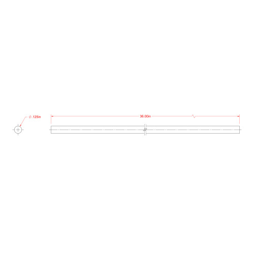SteelWorks Brass Solid Rod (1/8