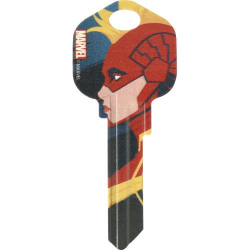 Marvel's Captain Marvel Profile Pic Kwikset 66/97 KW1/10 Key Blank