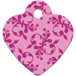 Pink Scroll Small Heart Quick-Tag