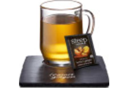 Cup of steep by bigelow organic lemon ginger herbal tea