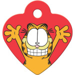 Garfield Smile Small Heart Quick-Tag