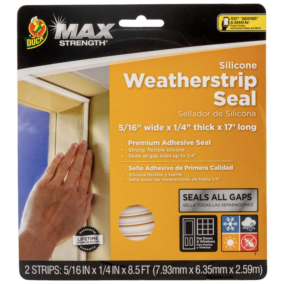 Max Strength Silicone Weatherstrip Seal