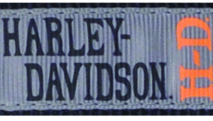 Harley-Davidson Designer Ribbon Overlay Dog Collar