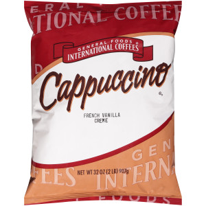 GENERAL FOODS INTERNATIONAL CAFÉ French Vanilla Crème Cappuccino Powder, 2 lb. (Pack of 6) image