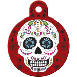 Day of the Dead Red Large Circle Quick-Tag