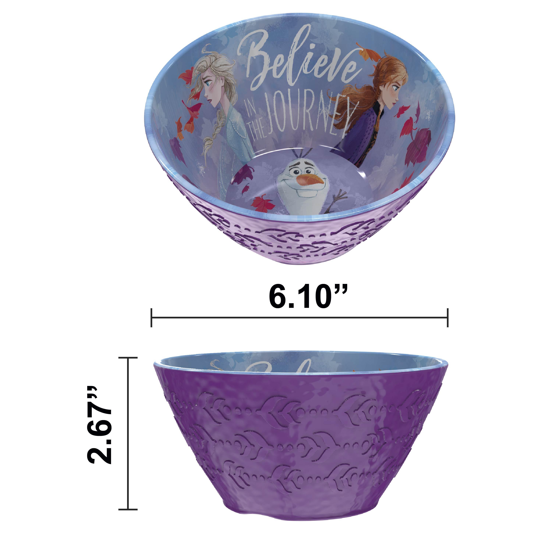 Disney Frozen 2 Movie Kids Plate and Bowl Set, Anna, Elsa & Olaf, 4-piece set slideshow image 4