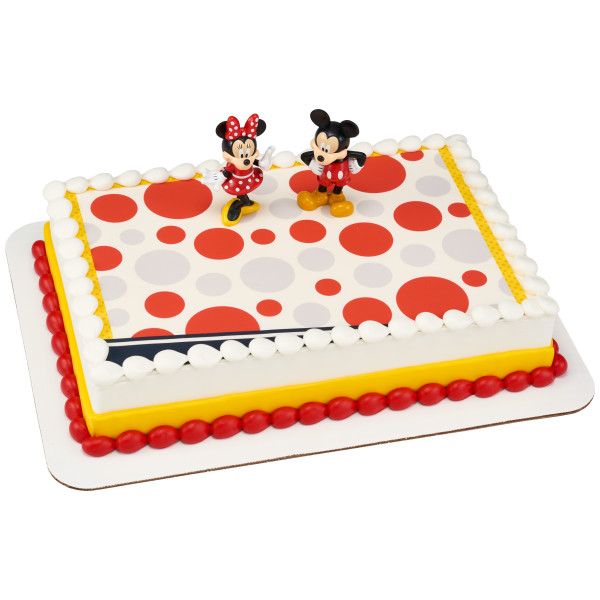 Mickey Mouse and Minnie Mouse PhotoCake® Edible Image® DecoSet® Background