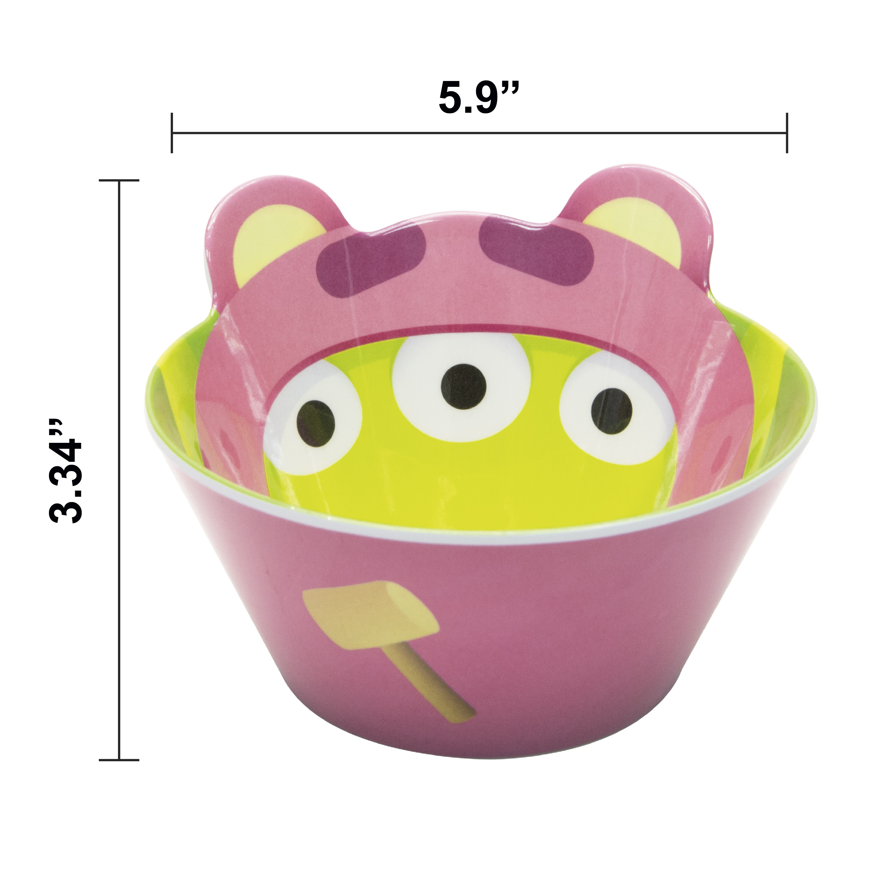 Disney and Pixar Toy Story 4 Plate and Bowl Set, Lotso, 2-piece set slideshow image 7