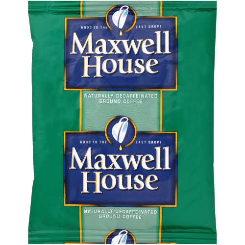 MAXWELL HOUSE Super High Yield Decaffeinated Coffee, 1.25 oz. Packet (Pack of 128)