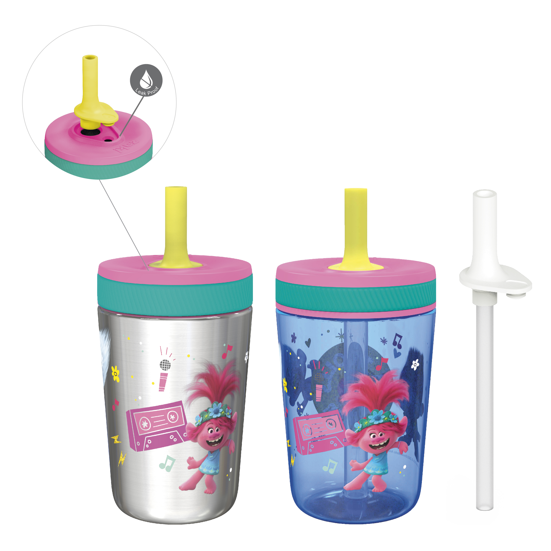 Trolls 2 Movie 15  ounce Plastic Tumbler, Poppy and Friends, 3-piece set slideshow image 1