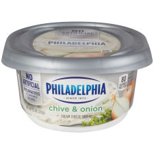 Philadelphia Chive and Onion Cream Cheese Spread 7.5 oz. Tub
