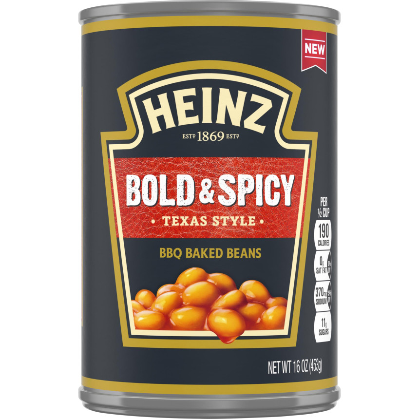 Heinz Texas Style Bold & Spicy BBQ Baked Beans, 16 oz Can image