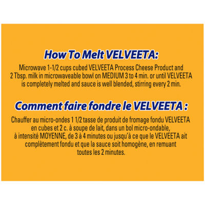 Velveeta Processed Cheese Loaf, 450g