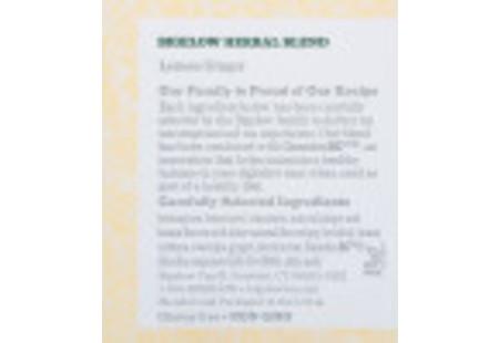 Top of Lemon Ginger Herbal Tea plus Probiotics box