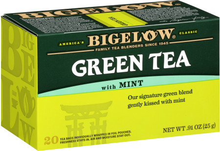 Green Tea with Mint - Case of 6 boxes- total of 120 teabags