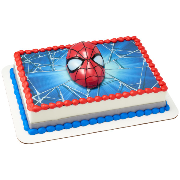 Marvels Spider-Man™ Ultimate Light Up Eyes PhotoCake® Edible Image® DecoSet® Background