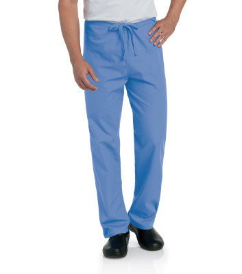 Landau Essentials Reversable Scrub Pants for Men and Women: Unisex, Classic Relaxed Fit, Drawstring Medical Scrubs 7602-