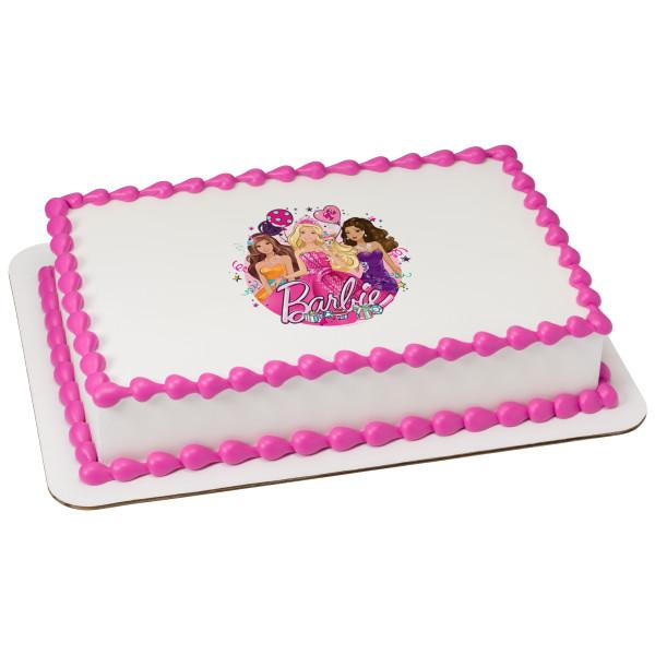 Barbie™ Glitter Birthday Edible Image®