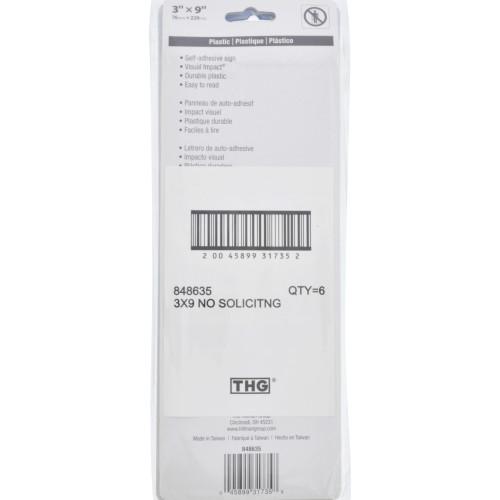 Adhesive No Soliciting Sign (3