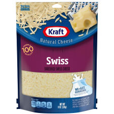 Kraft Swiss Shredded Natural Cheese 8 oz Pouch