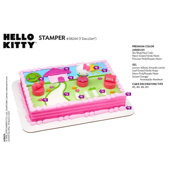 Hello Kitty® Stamper Cake Decorating Instruction Card